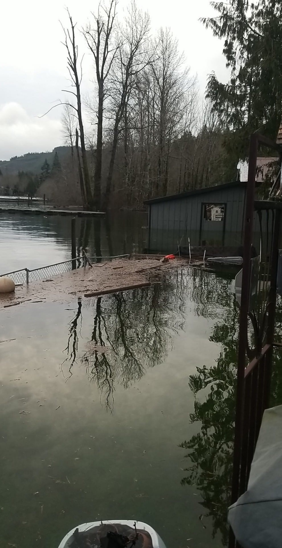 Flooding near Lake Cowichan