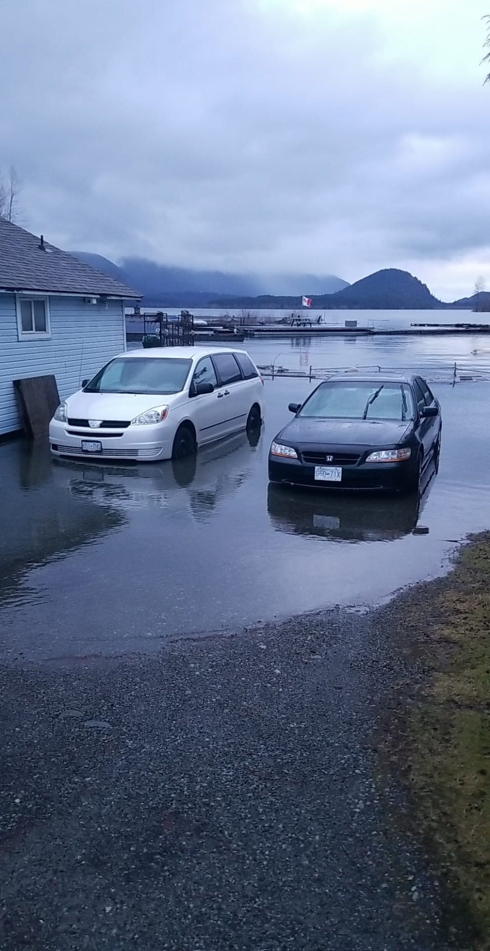 Flooding Lake Cowichan