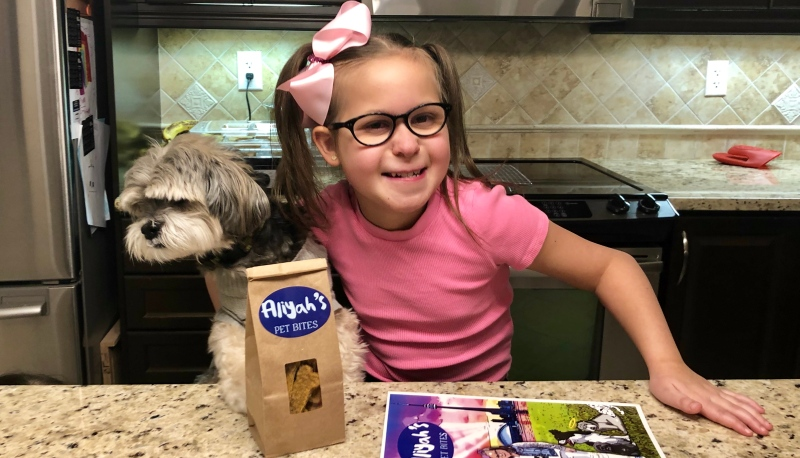 Nine-year-old Aliyah Brito is pursuing her passion to make treats for dogs in Milton, Ont.