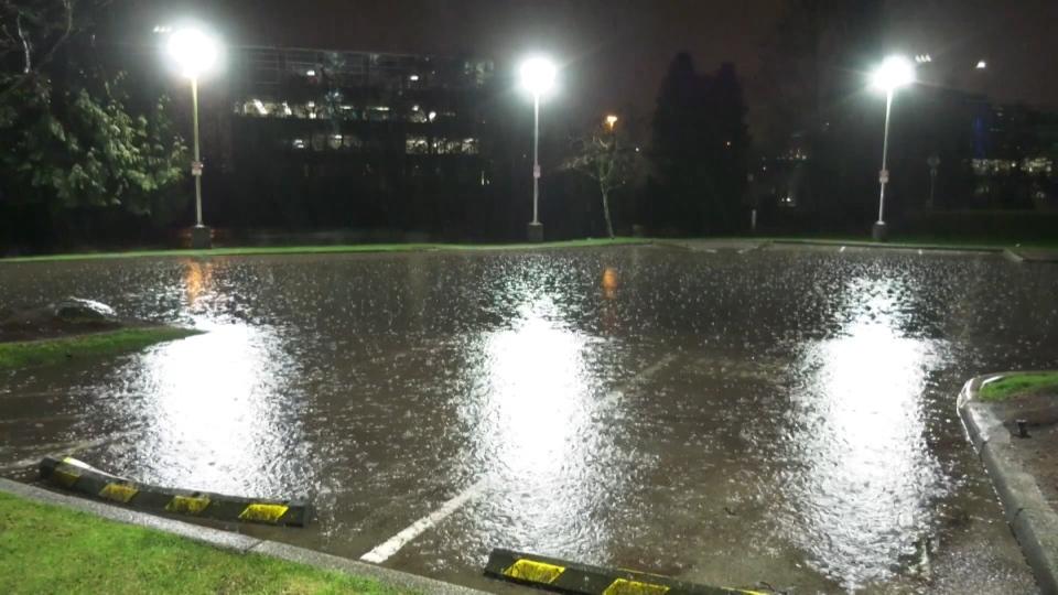 Rain causes flooding