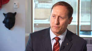 Conservative leadership candidate Peter MacKay is seen in this image from an interview with CTV News.