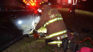 A woman used her toes to call 911 after her hands and fingers were crushed while changing tire. (Colleton County Fire Rescue/CNN)