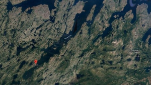A map of Postville, N.L. is seen in this Google Maps image. An earthquake recorded about 18 kilometres from the community was one of the most powerful to hit the region since 2009. (Source: Google Maps)