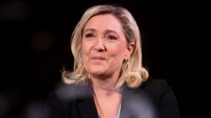 French far-right party Rassemblement National (RN) president Marine Le Pen said the teen is braver than politicians for speaking out. (AFP)