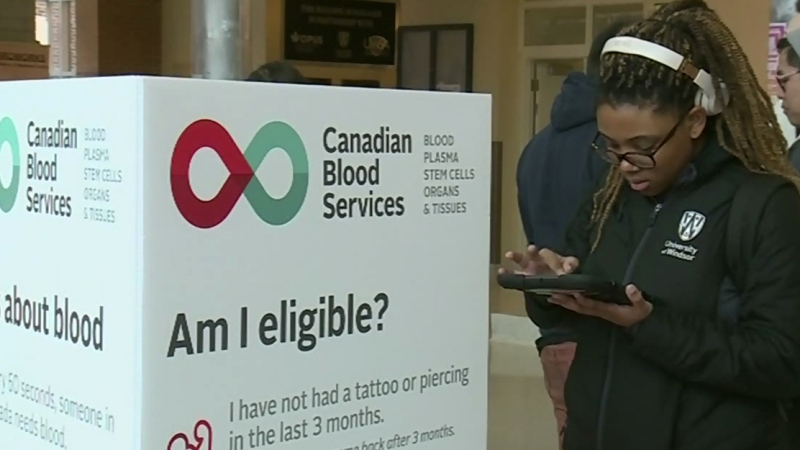 Post-secondary students urged to give blood