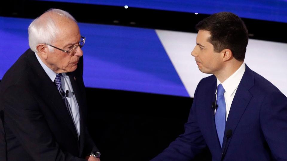 Sanders and Buttigieg