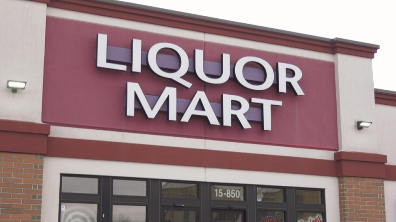 The exterior of a Liquor Mart in Winnipeg is pictured in an undated image. MBLL said an employee at the Kenaston Liquor Mart has tested positive for COVID-19.