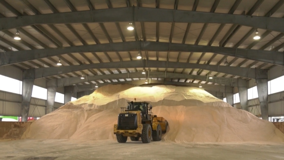 The City of Surrey says crews used 3,000 tonnes of salt in just 24 hours preparing for Tuesday's winter storm.