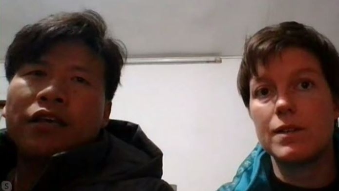 Megan Millward and Lie Zhang