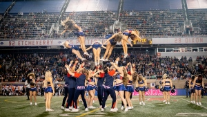 The Montreal Alouettes cheerleaders. (Credit: Montreal Alouettes)