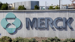 Merck corporate headquarters in Kenilworth, N.J., seen on May 1, 2018. (Seth Wenig / AP)