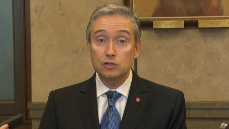 Minister of Foreign Affairs François-Philippe Champagne speaks