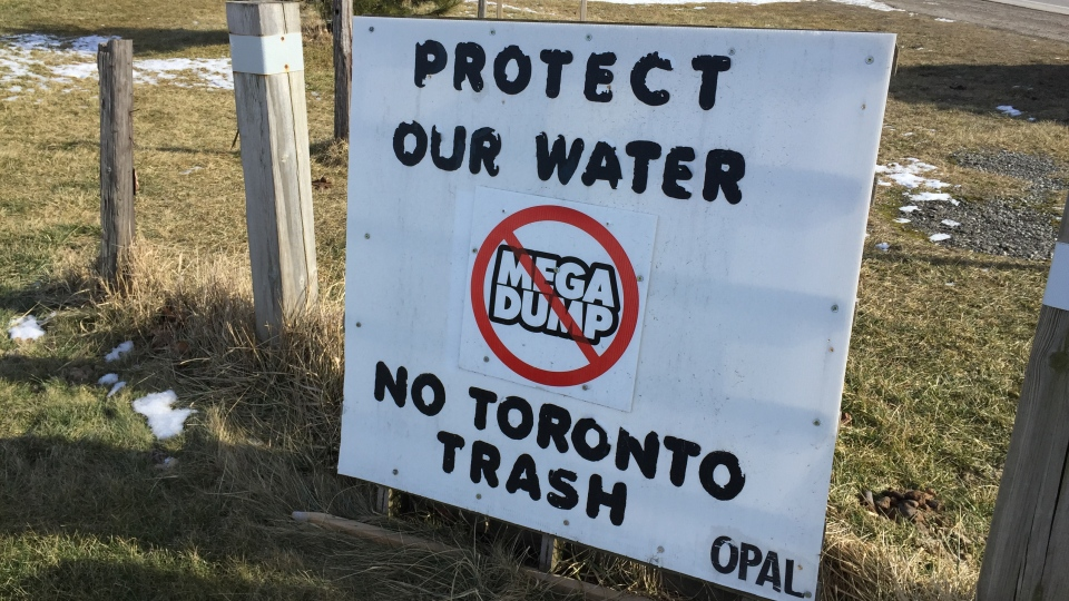 Sign opposes Zorra Township landfill