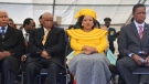 Lesotho Prime Minister Thomas Thabane pictured with his wife Maesaiah at his  inauguration on June 16, 2017. (Samson Motikoe/AFP/Getty Images/CNN)