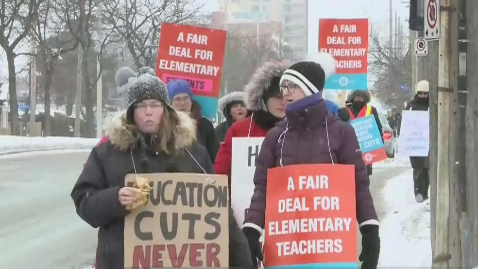 EFTO members hold province wide strike