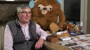 Bob MacKerricher has a lot to smile about. His company cashed in on Olympic mascot sales.