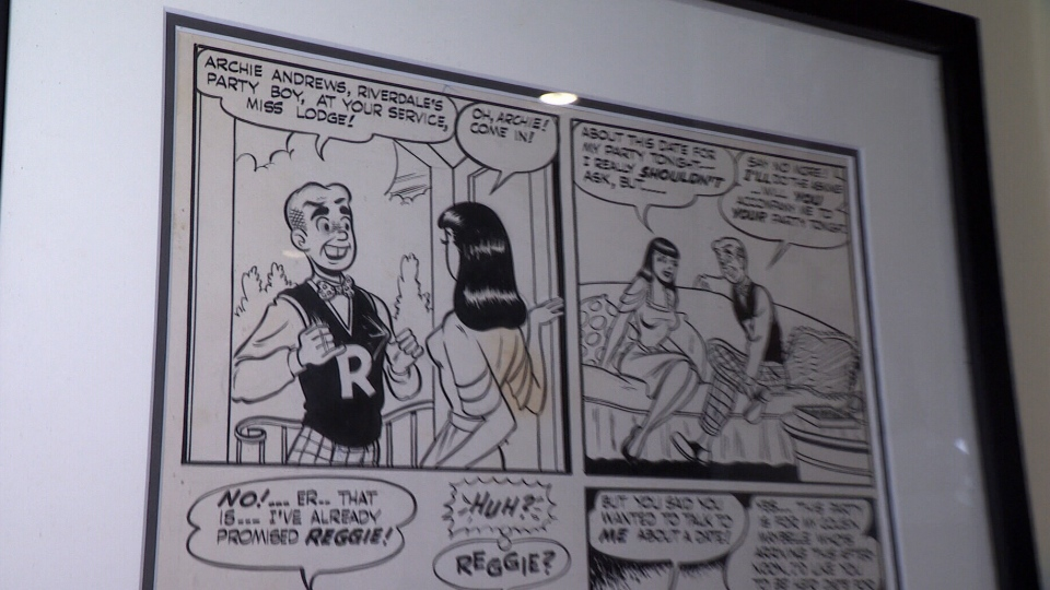From Jeff Singh's collection, an original drawing from an Archie comic is seen in this image.