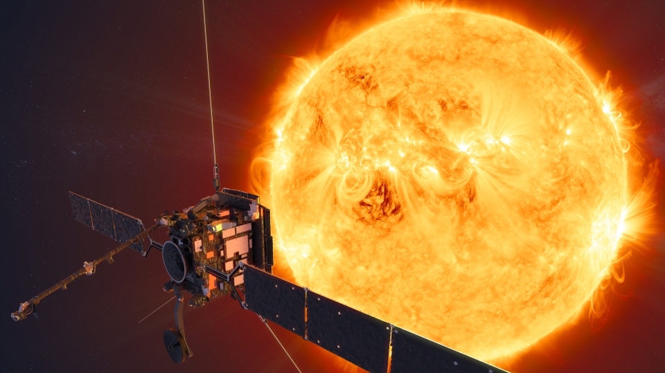 Artist's impression of Solar Orbiter, a new spacecraft journeying to the Sun to snap the first pictures of the Sun's north and south poles. (NASA)