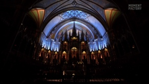 The Notre Dame Basilica has a sound and light show called Aura.