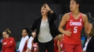 Canada's head coach Lisa Thomaidis talks to her team as they play China's in preliminary round of women's basketball action at the 2016 Olympic Games in Rio de Janeiro, Brazil on Saturday, Aug. 6, 2016. Eight victories in nine games over the past six months, and a best-ever No. 4 world ranking. THE CANADIAN PRESS/Sean Kilpatrick