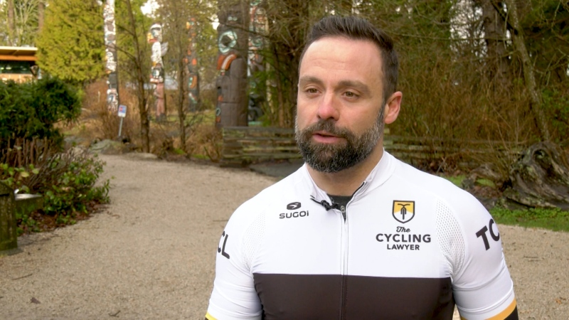 Joel Zanatta is a Vancouver personal injury lawyer and an avid cyclist who opposes changes that have been proposed for ICBC. (CTV)