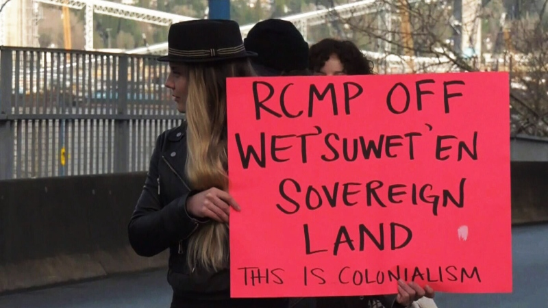 Third day of Wet'suwet'en solidarity protests