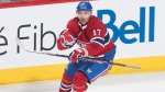 Montreal Canadiens' Ilya Kovalchuk celebrates after scoring during overtime period NHL hockey game action against the Toronto Maple Leafs in Montreal, Saturday, Feb. 8, 2020. THE CANADIAN PRESS/Graham Hughes