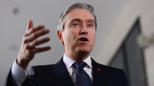Minister of Foreign Affairs Francois-Philippe Champagne speaks to reporters in Addis Ababa, Ethiopia on Sunday, Feb. 9, 2020. THE CANADIAN PRESS/Sean Kilpatrick