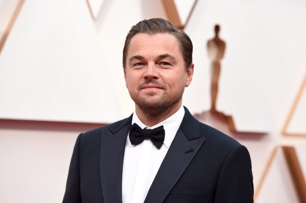 Leonardo DiCaprio arrives at the Oscars on Sunday, Feb. 9, 2020, at the Dolby Theatre in Los Angeles. (Photo by Jordan Strauss/Invision/AP)