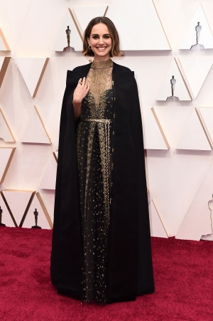 Natalie Portman arrives at the Oscars on Sunday, Feb. 9, 2020, at the Dolby Theatre in Los Angeles. (Photo by Jordan Strauss/Invision/AP) <br> <br> <b>Gallery sponsored by Wonder Bread</b>