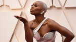Cynthia Erivo arrives at the Oscars on Sunday, Feb. 9, 2020, at the Dolby Theatre in Los Angeles. (Photo by Richard Shotwell/Invision/AP)