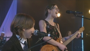 Jenny Massicotte performs at CTV lions Telethon