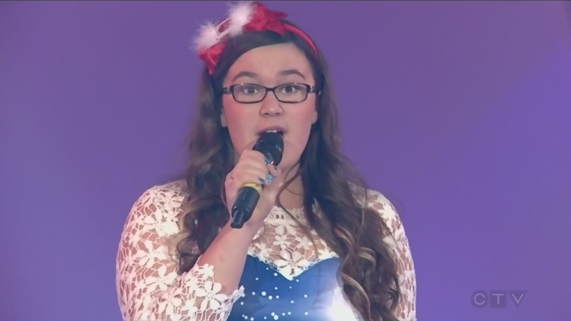 Ella Koskela singing for the CTV Lions Telethon