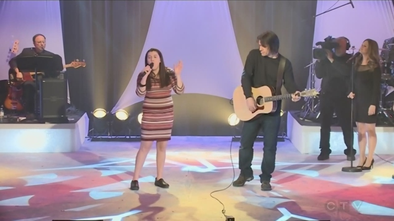 Brianne Demers performs for the CTV telethon