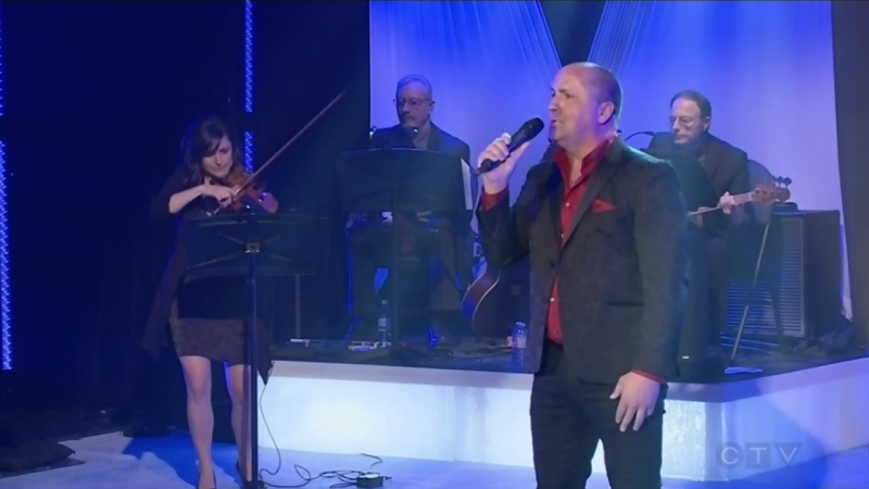 Marc Aubin sings for the CTV Lions Telethon