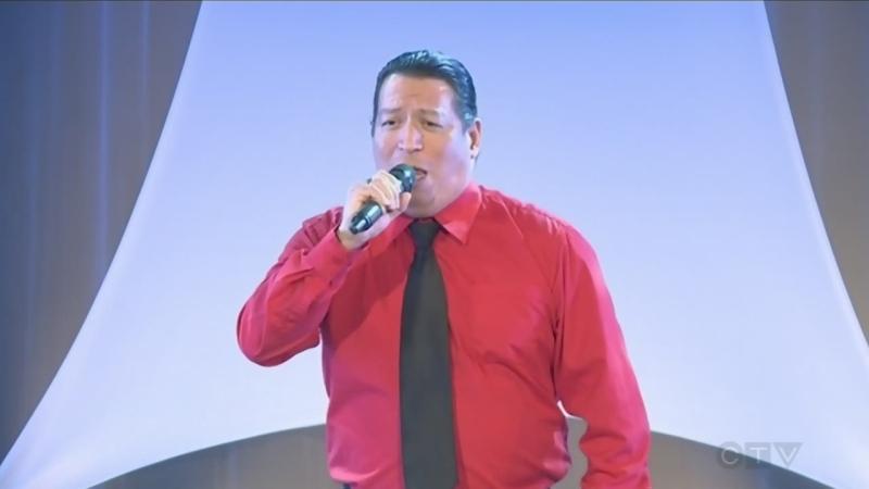 Robbie Shawana sings at the CTV Lions Telethon
