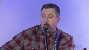 Serge Sauve performs at the CTV Lions Telethon