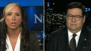 Pam Palmater from Ryerson University and Gary Mar from the Petroleum Services