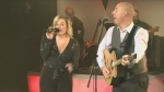 Marc Serre and Celine Tellier sing