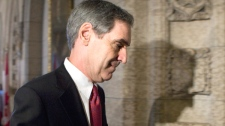Liberal Leader Michael Ignatieff returns to the House of Commons for Question Period after speaking with the media following a vote on a motion to implement measures from the last budget on Parliament Hill in Ottawa, Friday Sept. 18, 2009. (Sean Kilpatrick / THE CANADIAN PRESS)