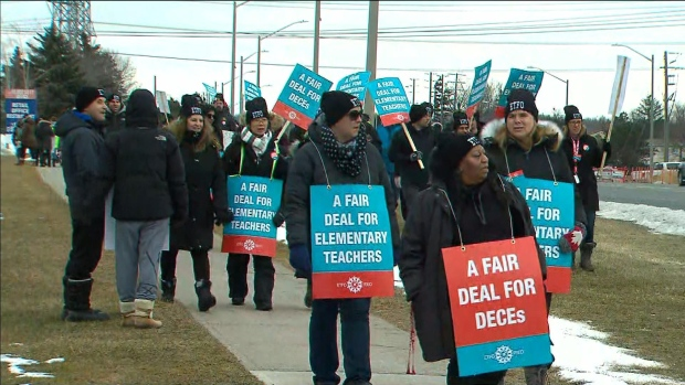 Elementary teachers' union puts rotating strikes on hold for two weeks