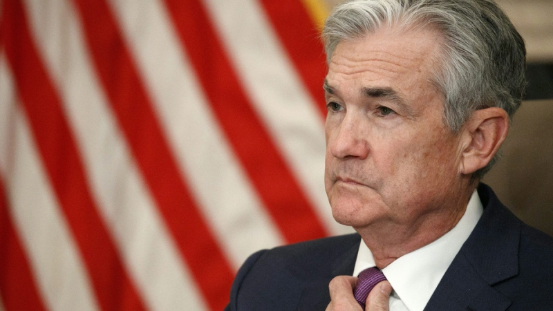 U.S. Federal Reserve Chairman Jerome Powell attends a panel at the Federal Reserve Board Building in Washington, on Oct. 4, 2019. (Jacquelyn Martin / AP)