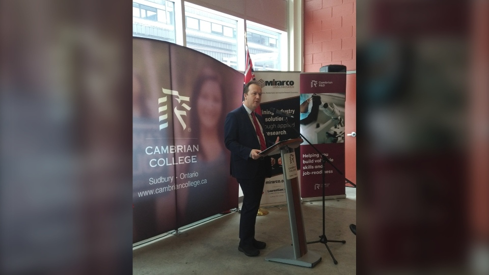 Sudbury MP Paul Lefebvre at Cambrian College