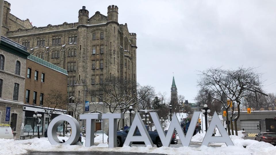 Ottawa weather Ottawa sign Feb 11