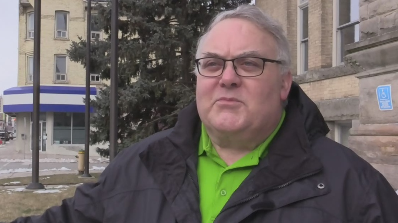 Mayor Joe Preston speaks on the implications of declaring a climate emergency in St. Thomas, Ont. on Tuesday, Feb. 11, 2020. (Brent Lale / CTV London)