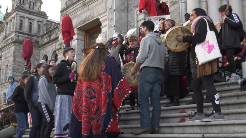 Protest B.C. legislature