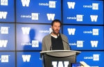 Blue Bombers' general manager Kyle Walters addresses the media on the opening day of CFL free agency.