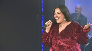 Dominica Frometa sings at the CTV Lions Telethon