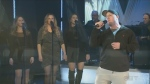 Karson Mackie sings at the CTV Lions Telethon