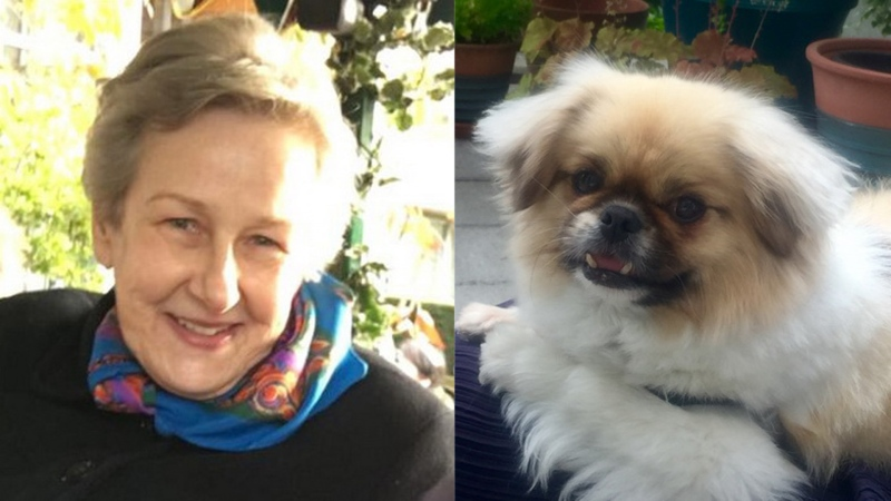 Monica Winter's car was found near the Fraser River in Burnaby on Feb. 10, and her dog, Chloe, is also missing.
